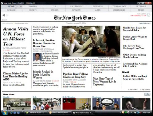 NYTimes Reade (Screenshot)