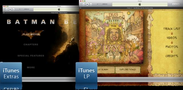 Apple iTunes Extra and iTunes LP Specs