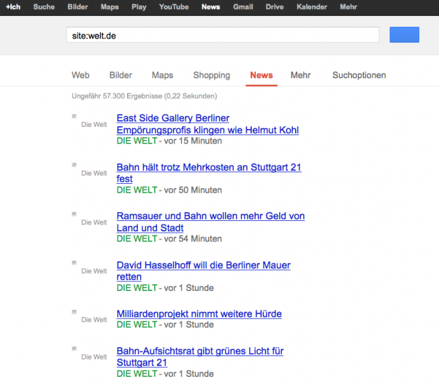 LSR: Google News Seite mit Snippets als 7x7 RGBA PNGs (unskaliert)